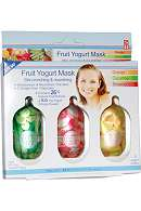 Skin Benefits Fruit Yogurt Mask 3x5g OrangeCucumberStrawb