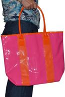 Elizabeth Arden Tote Bag Pink with Orange Handles