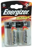 Ultra+ Energizer D Battery Pack of 2