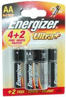 Ultra+ Energizer AA Batteries 4 + 2 Pack