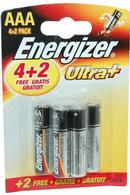 Ultra+ Energizer AAA Batteries 4 + 2 Pack