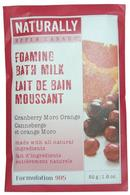 Naturally by Upper Canada Foaming Bath Milk Grains 50g Cranberry Moro Orange