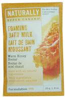 Naturally by Upper Canada Foaming Bath Milk Grains 50g Warm Honey Nectar