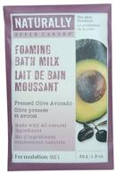 Naturally by Upper Canada Foaming Milk Bath Grains 50g Pressed Olive Avocado