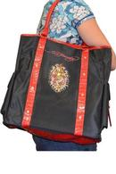 Ed Hardy Woman Tote Bag Black and Red