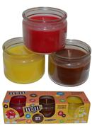 M and M's Scented Candles Pack of 3 Cinnamon, Chocolate, Lemon