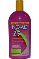 NO-AD Sun Protection 500ml SPF15 Water Resistant