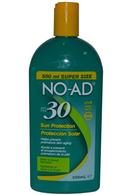 NO-AD Sun Protection 500ml SPF30 Water Resistant